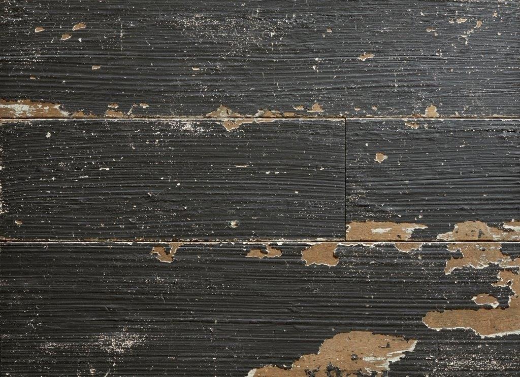 Geverfde houten vloeren chipped